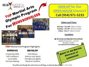 martial arts homeschool program