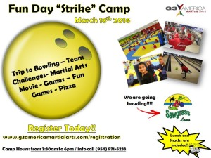 "Fun Day ""Strike"" Camp March 18th – After School Program"