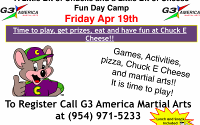 Fun Day Camp April 19th – Chuck E Cheese